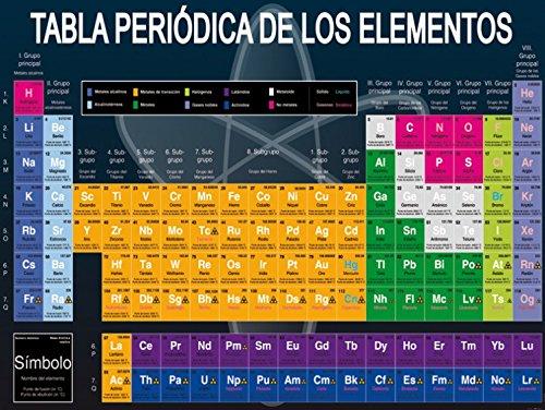 Preisvergleich Produktbild 1art1 100351 Schule - Tabla Periódica De Los Elementos,  2-Teilig Selbstklebende Fototapete Poster-Tapete 240 x 180 cm