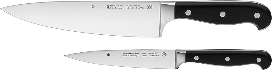 WMF Messerset 2-teilig Spitzenklasse Plus 2 Messer Küchenmesser geschmiedet Performance Cut Kochmesser Zubereitungsmesser