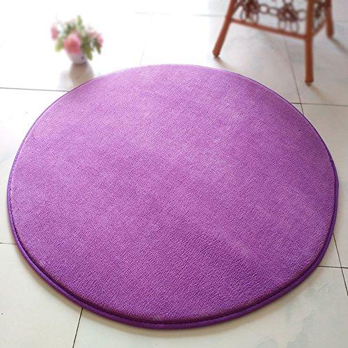 Chenille Kinder-stühle (XIN-Carpet Lila Yoga Kinder Crawler Pad Runde Matte/Festen Stuhl Stuhl Computer Stuhl Schwenk Bettdecke/Wohnzimmer Couchtisch Matte/Schlafzimmer Teppich (größe : Diameter 160cm))
