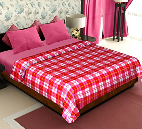 Story@Home Coral Collection Soft Printed Fleece Polyester Double Bed Blanket - Red  available at amazon for Rs.299