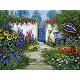 artland leinwand auf keilrahmen oder gerolltes poster mit motiv katharina schttler begeisternder hinterhof landschaften garten malerei - Hinterhoflandschaften