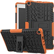 For Amazon Kindle Fire HD 8 2017/2018 Hybrid Rubber Stand Case Cover