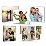 Personalice sus fotos en lienzo, impresión de lienzo de arte de pared personalizado, enmarcado (30x30cm)