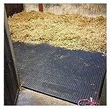 6schwarze, stabile EVA-Bodenmatten, 24 mm dick, 1,82x 1,22m groß, geeignet für Pferde, Ponys oder Nutztiere, EVA-Bodenbelag auch für Turnhallen geeignet