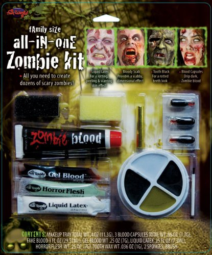 All in One Family Zombie Makeup Kit (Zombie Kit)