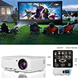 CAIWEI Portable LED Home Cinema Projector HDMI HD 1080P Support LCD Digital Projector for Movie Theater Gaming Art Outdoor Party Multimedia Video Projector with HDMI USB VGA TV AV Audio for Android Phones Iphone Mac Laptop PC Roku USB