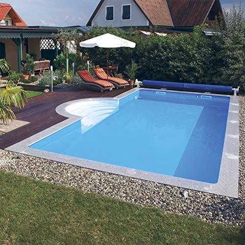 Steinbach Massivpool, Bausatz Highlight de Luxe Top 4, blau, 900 x 500 x 145 cm, 65250 L, 016297L