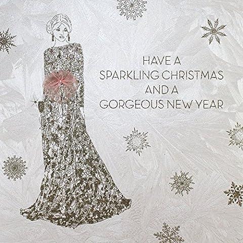 Have a Sparkling Christmas–Handgemachte Offene Weihnachtskarte–SC1