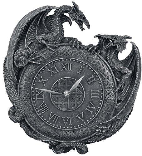 Nemesis Now Dragon Duel Wall Clock Orologio da parete nero