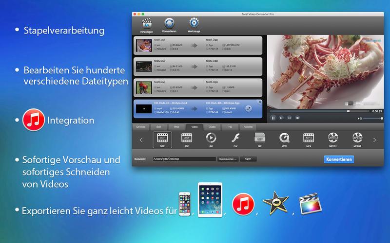 Total Video Converter Pro ist ein vollständiger und funktionsreicher Video-Werkzeugkasten, mit dem Sie Videos konvertieren, trimmen, bearbeiten, brennen, verbessern und anschauen können. [Download] -