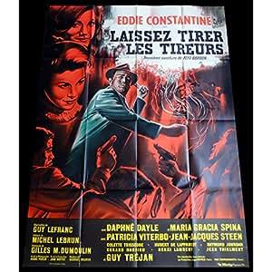 LAISSEZ TIRER LES TIREURS Affiche de film 120x160 - 1964 - Eddie Constantine, Guy Lefranc
