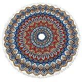 Lvtree Runde Tapestry Verbreiten Hippy Bohemian Mandala Roundie für Strandtücher, Tischdecke, Yoga-Matte, Meditation, Picknick-Tisch Cover - 59 Zoll, Bunte