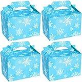German Trendseller® - 8 x sacs cadeaux avec poignée┃avec motifs flocons de neige ┃pour petits cadeaux de Noel étoiles