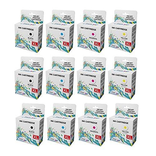 12 ALTA QUALITÀ Compatibile HP 655 Cartucce d'inchiostro per HP Deskjet d'inchiostro Advantage 3525 4615 4625 5525 6525 --- 12-PACK: 3 x NERO, 3 x CIANO, 3 x MAGENTA, 3 x GIALLO
