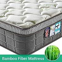 Lv. life 4D Bamboo Fiber Mattress,Pocket Springs and Memory Foam - 9-Zone Orthopaedic Mattress