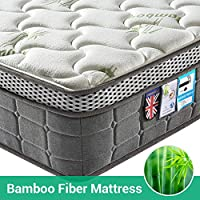 Lv. life 4FT6 Double 4D Bamboo Fiber Mattress, 4FT6 Double Pocket Springs and Memory Foam - 9-Zone Orthopaedic Mattress