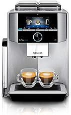 Siemens TI9575X1DE EQ.9 plus connect s700Kaffeevollautomat,1500 W, HomeConnect, 2 Bohnenbehälter, Großes TFT-Display, Baristamodus, Edelstahl