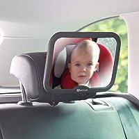Venture Baby Car Mirror Shatterproof Baby Mirror for Car -Premium Black