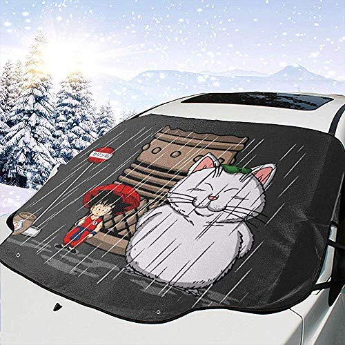MaMartha Car Windshield Snow Cover Mon Voisin Karin Studio Ghibli Pare-Brise de Pare-Brise de Voiture Dragon Ball Z, Pare-Soleil Anti-Glace, Ajustement Universel