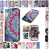 KM-Panda Housse Coque Apple iPhone X Mandala Cuir PU Wallet Cover TPU Silicone Étui Portefeuille Flip Case