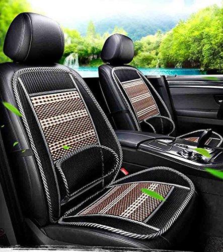 Bmdha coprisedili per auto estivi antisudore cuscino per auto massaggio cuscino traspirante confortevole sedile anteriore (2 pezzi),black
