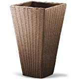 Best Home-Cube Indoor Plants - Plant Pot Rattan-Look Flower Plants Box - 40x40x70cm Review