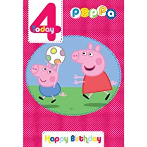Peppa Pig âge 4 Carte d'anniversaire