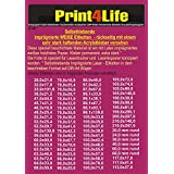 100 feuilles auto-adhésif 160g brillant du papier photo professionnel A4 (finition brillante) mieux adapté pour copieur laser et les résolutions les plus élevées! Absolument opaque!