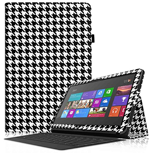 'Fintie–Schutzhülle Flip mit Tür Eingabestift für Microsoft Surface RT/Surface 210.6Nicht kompatibel mit Windows 8Pro Surface 2 / Surface RT - - ZG-Houndstooth Schwarz