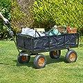 VonHaus 600 kg Gitterwagen / Gartenwagen / Handwagen mit Innenverkleidung – robuster vierrädriger DIY Gerätewagen von VonHaus bei Du und dein Garten