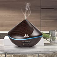 infinitoo Essential Oils Diffuser, 500ml Aroma Ultrasound Humidifier Kids Automatic Off Aroma Diffuser with 4 Modes Adjust T