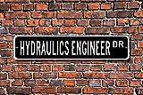 Aersing Metall Schild Post Hydraulik Ingenieur Hydraulik Ingenieur Geschenk Hydraulik Ingenieur Schild Hydrauliken Expert Ingenieur Wand Home Dekoration Straßenschild