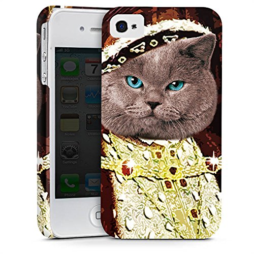 Apple iPhone X Silikon Hülle Case Schutzhülle Kater Edelmann Katze Cat Premium Case glänzend