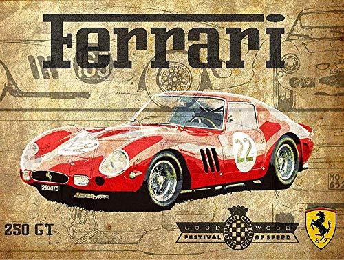 HALEY GAINES Ferrari Car Placa Cartel Póster Pared