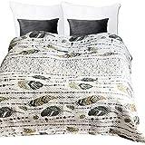 JEMIDI Tagesdecke Bett und Sofaüberwurf gesteppt 220cm x 240cm Überwurf Tagesdecke Sofa Couch Decke Husse Überwürfe Steppdecke XL XXL (Design 51)