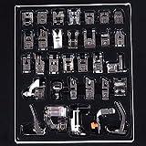 BABAN Kit de 32 Piezas Multifuncionales Prensatelas Accesorios de Máquina de Coser Sewing Machine Presser Foot Feet Kit Set For Brother Singer Janome
