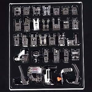 piedini macchina cucire,Cucito al piedino TAPCET 32PCS Kit Accessori sewing machine patchwork dei piedini della macchina da cucire Cestini da cucito