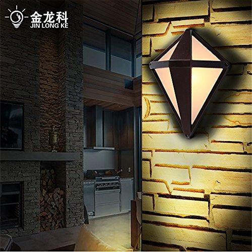 BOOTU lámpara LED y luces de pared Golden Dragon's diamond buscar impermeable al aire libre LED lámpara de pared Lámpara de jardín jardín patio de luz iluminación off road (23,5 * 26cm)