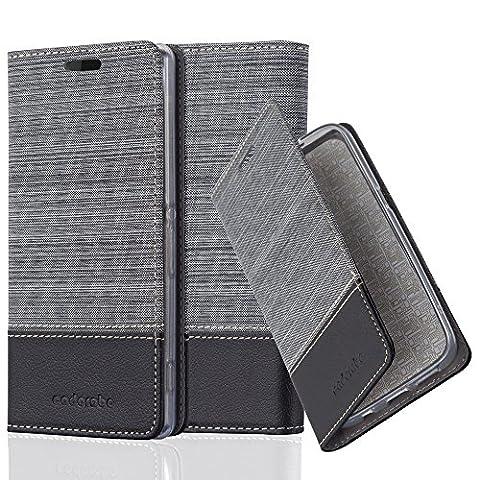 Cadorabo - Etui Housse pour Sony Xperia Z2 - Coque Case Cover Bumper Portefeuille en Design Tissue-Similicuir avec Stand Horizontale, Fentes pour Cartes et Fermeture Magnétique Invisible en