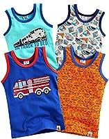 4 Pack Undershirts Train Tour / Cube / Fire Truck / ggebi S