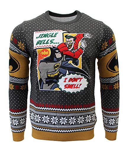 Batman: I Don't Smell Xmas Pullover Size M