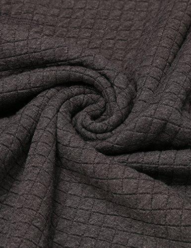 Unibelle Herren Casual Sweatshirts Contrast Color Textured 1_Grau