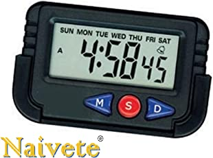 Naivete New Digital Lcd Alarm Table Desk Car Calendar Clock Timer Stopwatch