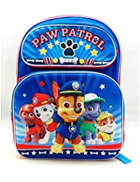 """Paw Patrol Boys Team 3D 16"""" Backpack By Zoofy"""