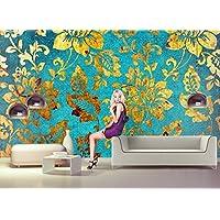 Papel Pintado Fotográfico Oro Flores Abstracto nº 8T de 197de papel pintado Póster–cuadro de pared–Vinilos decorativos (cenefa pared Tatoo riere de viaje Póster habitación de los Niños Sticker Kids City Wallpaper Children Wall Mural