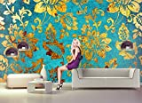 Fototapete GOLD BLUMEN ABSTRAKT Nr.8T-197 Bildtapete Poster Wandbild Wanddeko Aufkleber Bordüre Wandtatoo Rierenbild Reisenposter Kinderzimmer Sticker kids city wallpaper children wall mural