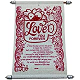 Lilone Beautiful Fancy Scroll Love You Forever Message Best Valentine Gifts for Girlfriend Boyfriend , Special Gift for your Dear Ones