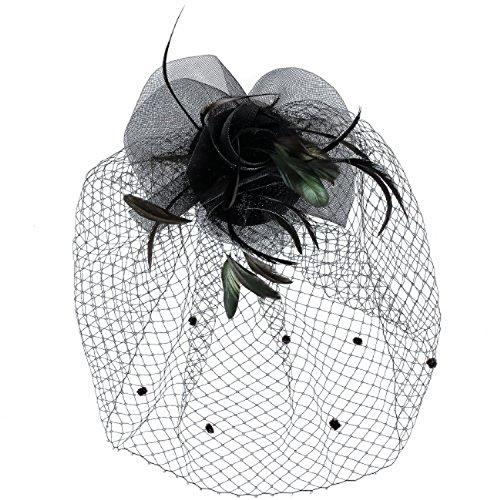 Rokoko Stil, gewirbelt Floral Zapfen gemeißelt Fascinator für Hochzeiten oder die Party, mit einem...