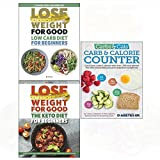 Carbs & cals carb & calorie counter, low carb diet, keto diet for beginners 3 books collection set