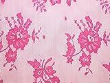 Zarte Spitzenstoff für Kleider, doppelseitig, Candy Pink -